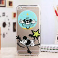 TPU Cover Disney Mickey Mouse Silicone Case Shell for iPhone 8 - Transparent