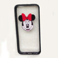 TPU Cover Disney Minnie Mouse Head Silicone Case Skin for iPhone 8 - Black