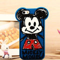 Cartoon Mickey Mouse Cover Disney Graffiti Silicone Cases Skin for iPhone 8 Plus - Blue