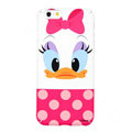 Genuine Cute Daisy duck Covers Plastic Back Cases Cartoon Matte for iPhone 8 Plus - Pink