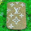 Luxury Bling Holster Covers LV Louis Vuitton diamond Crystal Cases for iPhone 8 Plus - Brown