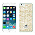 Plastic Coach Covers Hard Back Cases Protective Shell Skin for iPhone 8 Plus Beige - White