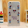Transparent Cover Disney Minnie Mouse Silicone Cases TPU for iPhone 8 Plus - White