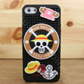 3D Pirate Cover Disney DIY Silicone Cases Skin for iPhone 7S Plus - Black