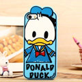 Cartoon Donald Duck Cover Disney Graffiti Silicone Cases Skin for iPhone 7S Plus - Blue