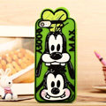 Cartoon Goofy Cover Disney Graffiti Silicone Cases Skin for iPhone 7S Plus - Green