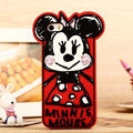 Cartoon Minnie Mouse Cover Disney Graffiti Silicone Cases Skin for iPhone 7S Plus - Red