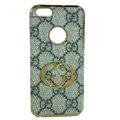 GUCCI Luxury leather Cases Back Hard Covers Skin for iPhone 7S Plus - Grey