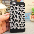 Hot Mickey Mouse Covers Plastic Matte Back Cases Cartoon Cute for iPhone 7S Plus - Black