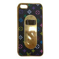 LV LOUIS VUITTON Luxury leather Cases Hard Back Covers for iPhone 7S Plus - Black