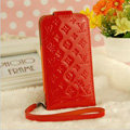 LV LOUIS VUITTON leather Cases Luxury Holster Covers Skin for iPhone 7S Plus - Red