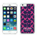 Luxury Coach Covers Hard Back Cases Protective Shell Skin for iPhone 7S Plus Rose - White