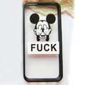 TPU Cover Disney Mickey Mouse Silicone Case Fuck for iPhone 7S Plus - Transparent