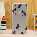 Transparent Cover Disney Mickey Mouse Silicone Cases TPU for iPhone 7S Plus - White