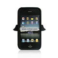 Angel Pattern Silicone Case for Apple iPhone 4th / 4G - Black