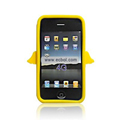 Angel Pattern Silicone Case for Apple iPhone 4th / 4G - Yellow