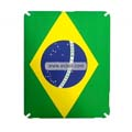 Brazil National Flag Style Frosted Protection Back Case Skin Cover for Apple iPad