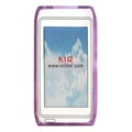 Clear TPU Case for Nokia N8 Mobile Phone-Purple