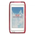 Clear TPU Case for Nokia N8 Mobile Phone-Red
