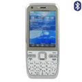 DZ E500 Dual SIM Card Phone with TV & Bluetooth Function - Silver