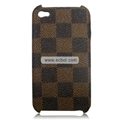 High Quality LV Damier Pattern Protective Case for iPhone 4th / 4G - Brown