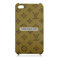 High Quality LV Pattern Protective Case for iPhone 4th / 4G - Khaki