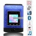 N90 Quad Band Dual Cards Dual Cameras Color TV Dual Bluetooth Java Flip China Phone-Purple