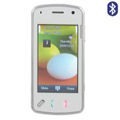 N97 Dual SIM Card Phone with Bluetooth Function - White