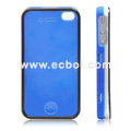 Nice Feel Oiled Plastic Protective Case for Apple iPhone 4th / 4G - Blue