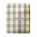 Protection Back Case Skin Cover for Apple iPad-Beige Grid