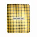 Protection Back Case Skin Cover for Apple iPad-Yellow Grid