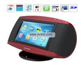 Remote Control 7-inch Touch Screen HIFI Speaker Car MP3 / MP4 MB-107-Red