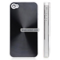 Shiny Coil Pattern Hardware Material Protective Case for Apple iPhone 4th / 4G - Black