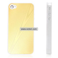 Shiny Tree Texture Hardware Material Protective Case for Apple iPhone 4th / 4G - Golden