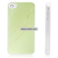 Shiny Tree Texture Hardware Material Protective Case for Apple iPhone 4th / 4G - Green