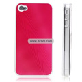 Shiny Tree Texture Hardware Material Protective Case for Apple iPhone 4th / 4G - Red