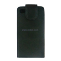 Vertical Flip Open PU Leather Case for Apple iPhone 4th / 4G - Black