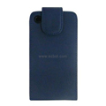 Vertical Flip Open PU Leather Case for Apple iPhone 4th / 4G - Blue