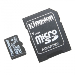 Memory card - 8GB Kingston Micro SD/ T-Flash Memory Card